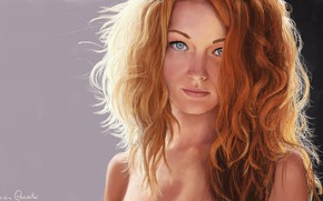 Picture Girl, Look, Girl, Hair, Eyes, Art, Beautiful, Sexy, Art, Red, Beauty, Eyes, Sexy, Beautiful, Redhead, …