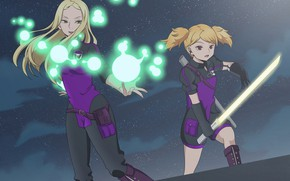 Picture night, weapons, girls, anime, World Trigger, The pulse of the world