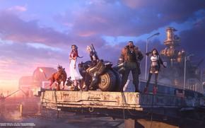 Picture Final Fantasy VII, Cloud Strife, Tifa Lockhart, Barret Wallace, Aerith Gainsborough, Final Fantasy VII Remake