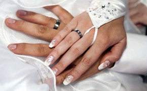 Picture ring, hands, engagement rings, the couple