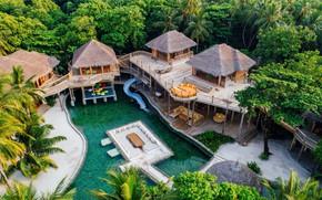 Picture pool, The Maldives, the hotel, Bungalow, Soneva Fushi
