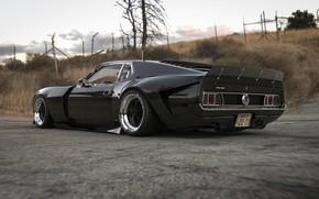 Picture Mustang, Ford, Muscle, Car, Old, Rear