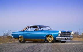Wallpaper Ford, Blue, 1967, 427, Fairlane, American muscle car