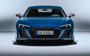 Picture Audi R8, front view, V10, 2019