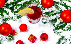 Picture holiday, Christmas, New year, mulled wine, hot wine