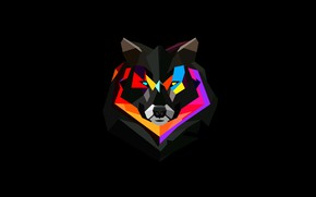 Picture animal, Wallpaper, paint, wolf