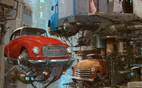 Picture Home, Auto, Figure, The city, Machine, Building, City, World, Fantasy, Sky, Architecture, Car, Art, Art, …
