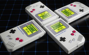 Picture The game, Retro, Nintendo, Rendering, Vintage, by Oliver Harries, Oliver Harries, Game Boy Classic, F-1Race, …