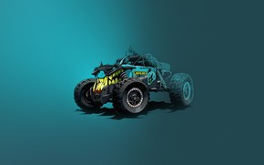 Picture Transport & Vehicles, Illustration, Grin, Art, Car, Auto, by Andrey Pridybaylo, Andrey Pridybaylo, Chupacabra, Offroad, …