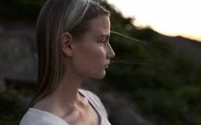 Picture girl, nature, profile, Max Fiyah
