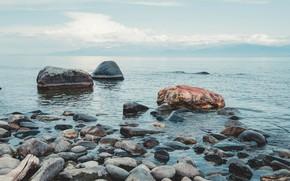 Picture summer, water, landscape, nature, stones, Baikal