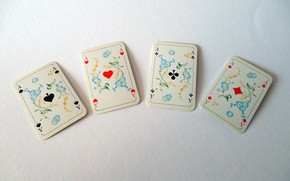 Picture card, the game, poker, 4 aces