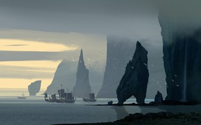 Picture Ships, The Vikings, Raphael Lacoste, multi-platform video game, Assassin's Creed Valhalla, Кредо ассасина: Вальхалла, Флот …
