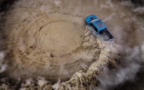 Picture Ford, Dust, Speed, Skid, Raptor, F-150, 2019, Ford F-150 Raptor