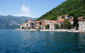 Picture the city, coast, Montenegro