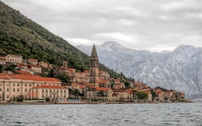 Picture landscape, mountains, building, home, Bay, Montenegro, To, Montenegro, Kotor Bay, Kotor, Bay of Kotor, Dinaric …