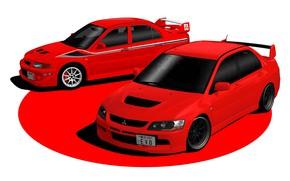 Picture Red, Auto, Japan, Machine, Mitsubishi, Lancer, Evolution, Evo IX, Gran Turismo 6, Mitsubishi Lancer Evolution, …