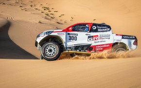 Picture sand, desert, Toyota, pickup, Hilux, 2019, Gazoo Racing