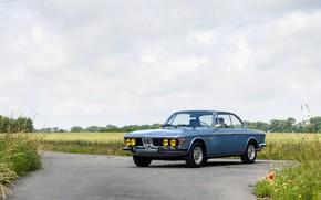 Picture Field, Road, BMW, Wheel, 1971, Lights, Classic car, BMW 3.0 CSi (E9)