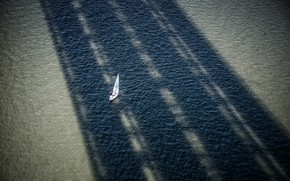 Picture sea, boat, shadow