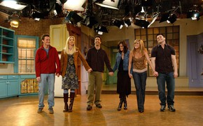 Picture the series, actors, characters, Friends, the final episode