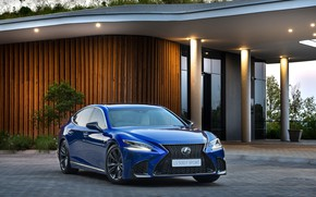 Picture blue, Lexus, Lexus LS, Lexus LS 500, 2019, Lexus LS 500 F SPORT, Lexus LS …
