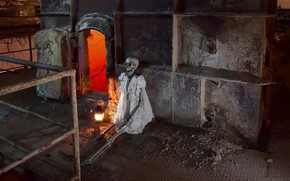 Picture lamp, skeleton, oven