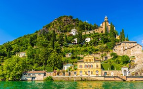 Picture lake, home, Switzerland, Lugano