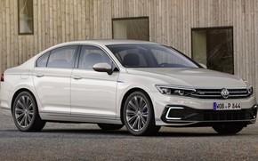 Picture car, machine, lights, Volkswagen, white, white, sedan, side, wheel, GTE, Volkswagen Passat, Volkswagen Passat GTE