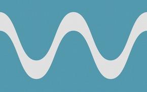 Picture wave, line, minimalism