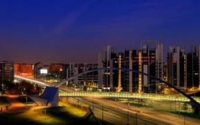 lights, the evening, Italy, Milan