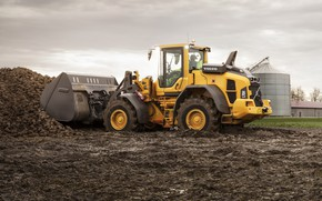 Picture photo, Volvo, dirt, loader