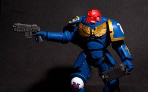 Picture warhammer, war, ultramarine, warhammer 40 000, w40k