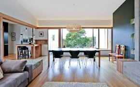 Picture interior, kitchen, living room, Anglesea house, Stolovaya