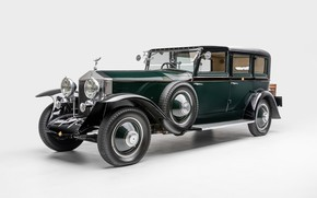 Picture retro, Rolls-Royce, Phantom, white background, 1927, 1927 Rolls-Royce Phantom