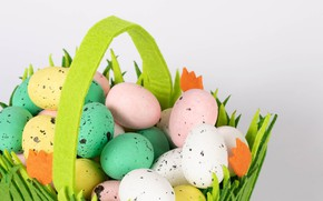Picture holiday, basket, eggs, spring, Easter, Easter