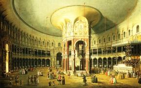 Picture picture, Canaletto, Canaletto, Giovanni Antonio Canal, London. The interior of the rotunda in Ranlife
