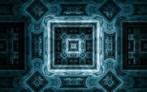 Picture pattern, squares, fractal