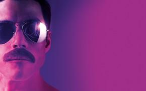 Picture mustache, glasses, Queen, Bohemian Rhapsody, Rami Malek, Rami Malek, Bohemian Rhapsody, Freddie Merkuri