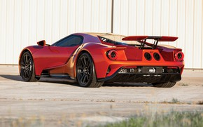 Picture Ford, supercar, Ford GT, rear view, 2017, H063, Beryllium Orange