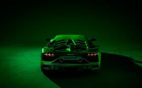 Picture Lamborghini, supercar, rear view, 2018, Aventador, SVJ, Aventador SVJ
