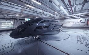 Picture spaceship, bunker, Elite: Dangerous