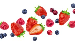 Picture white, berries, background, blueberries, strawberry
