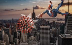 Picture New York, USA, USA, Virus, New York City, Empire State Building, The Empire state building, …