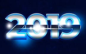 Picture blue, background, New year, New Year, 2019