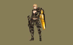 Picture Girl, Gun, Sexy, Art, Minimalism, Characters, Ren Wei Pan, Shield dragon EX