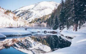 Picture Nature, Winter, Landscape, Water, Snow