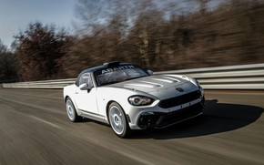 Picture white, speed, Roadster, spider, Abarth, 2019, 124 Rally