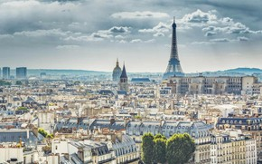 Picture France, Paris, panorama, Eiffel tower