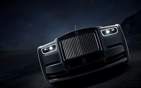 Picture night, Rolls-Royce, Phantom, grille, 2019, Tranquillity